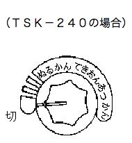 stk240 温度調節器のダイヤル